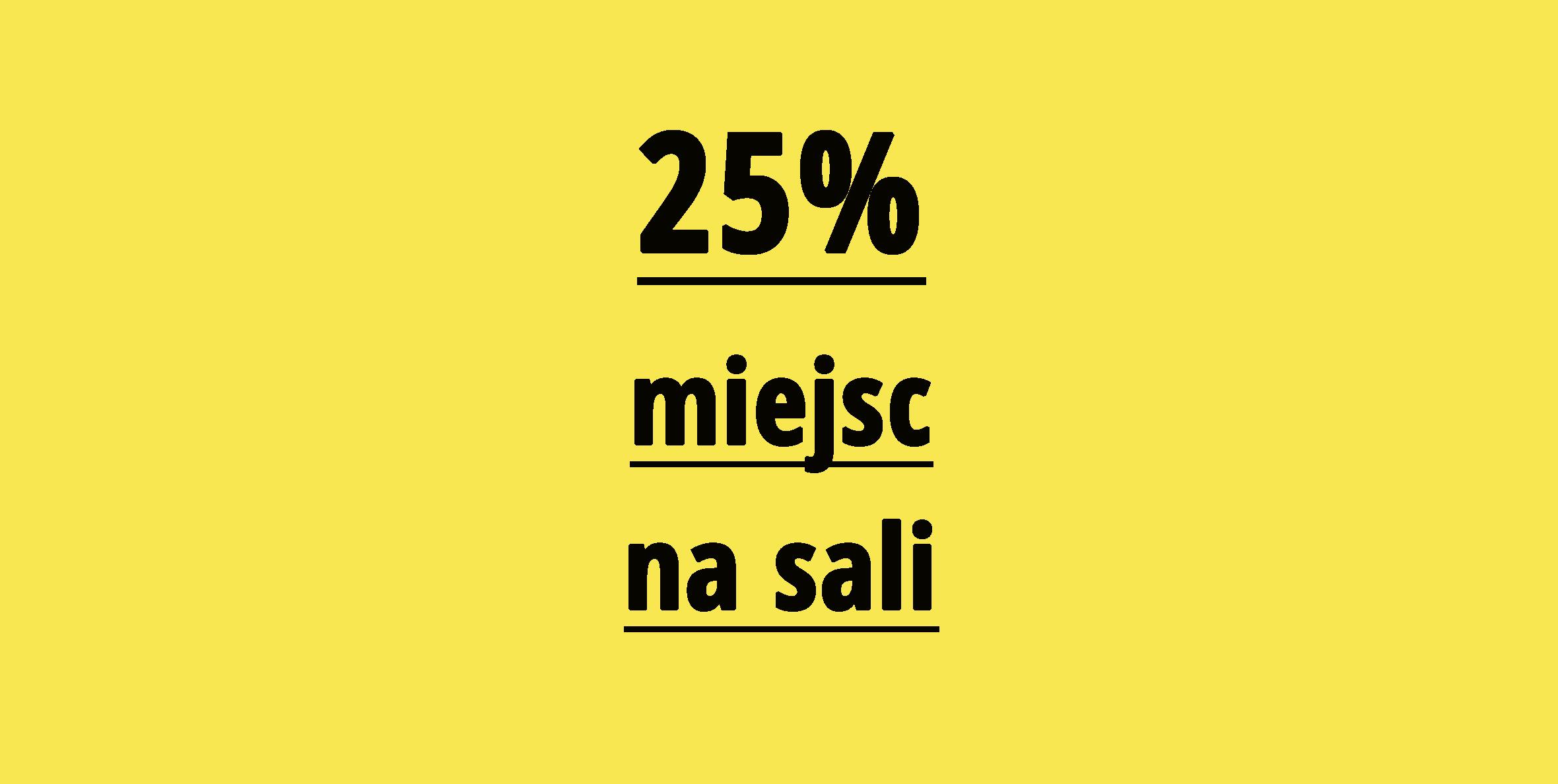 25 procent miejsc